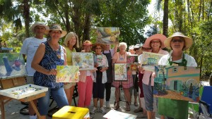 Sanibel-Captiva Art League Paint-Out at In The Garden